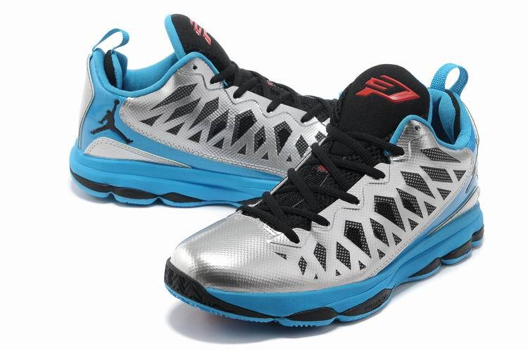 2013 Jordan CP3 VI Silver Black Blue Basketball Shoes