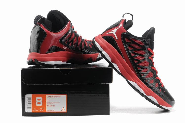 2013 Jordan CP3 VI Silver Black Red White Basketball Shoes