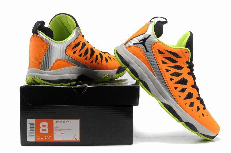 2013 Jordan CP3 VI Silver Orange Black Grey Basketball Shoes