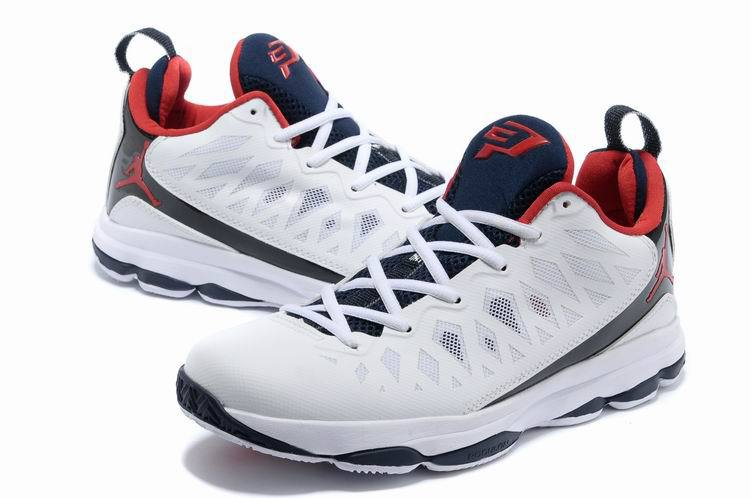 2013 Jordan CP3 VI White Black Red Basketball Shoes