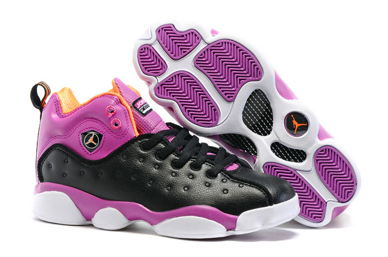 Jordan Jumpman Team 2 GS Black Hyper Orange Purple Dusk White Excusive Colorways