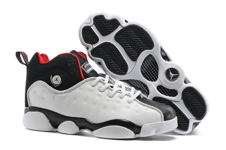 Jordan Jumpman Team 2 GS White Black Varsity Red