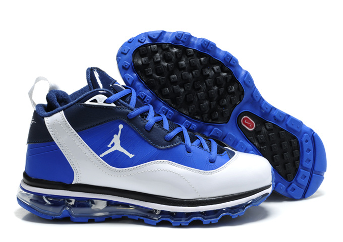 Comfortable Jordan Melo M8+Max 09 Blue White Black Shoes