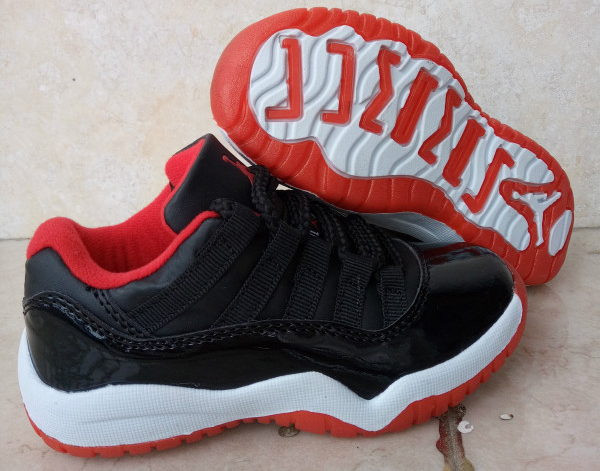 Kids Air Jordan 11 Retro Low Bred 2016