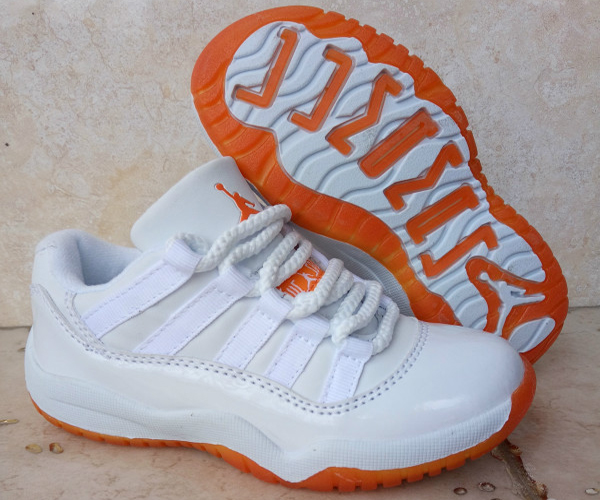 Kids Air Jordan 11 Retro Low Citrus White White Citrus