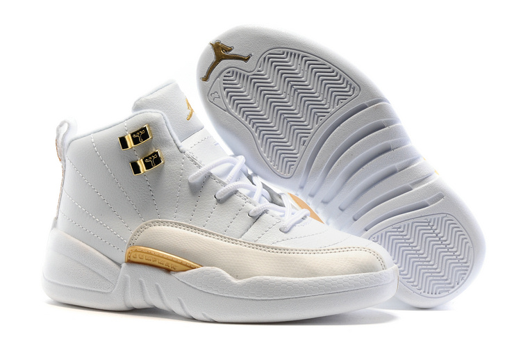Kids Air Jordan 12 Retro OVO White 2016