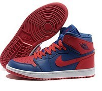 2015 Latest Air Jordan 1 Retro Red Blue White Shoes