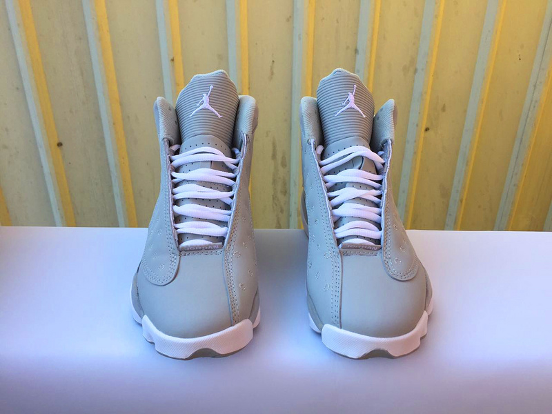 Women Air Jordan 13 Retro Wolf Grey Shoes