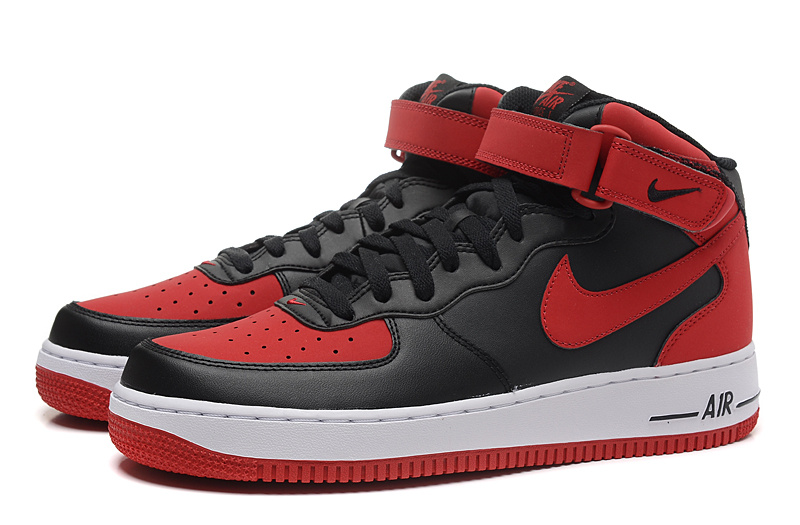 Men Air Jordan 1 Retro Magic Strap Black Red