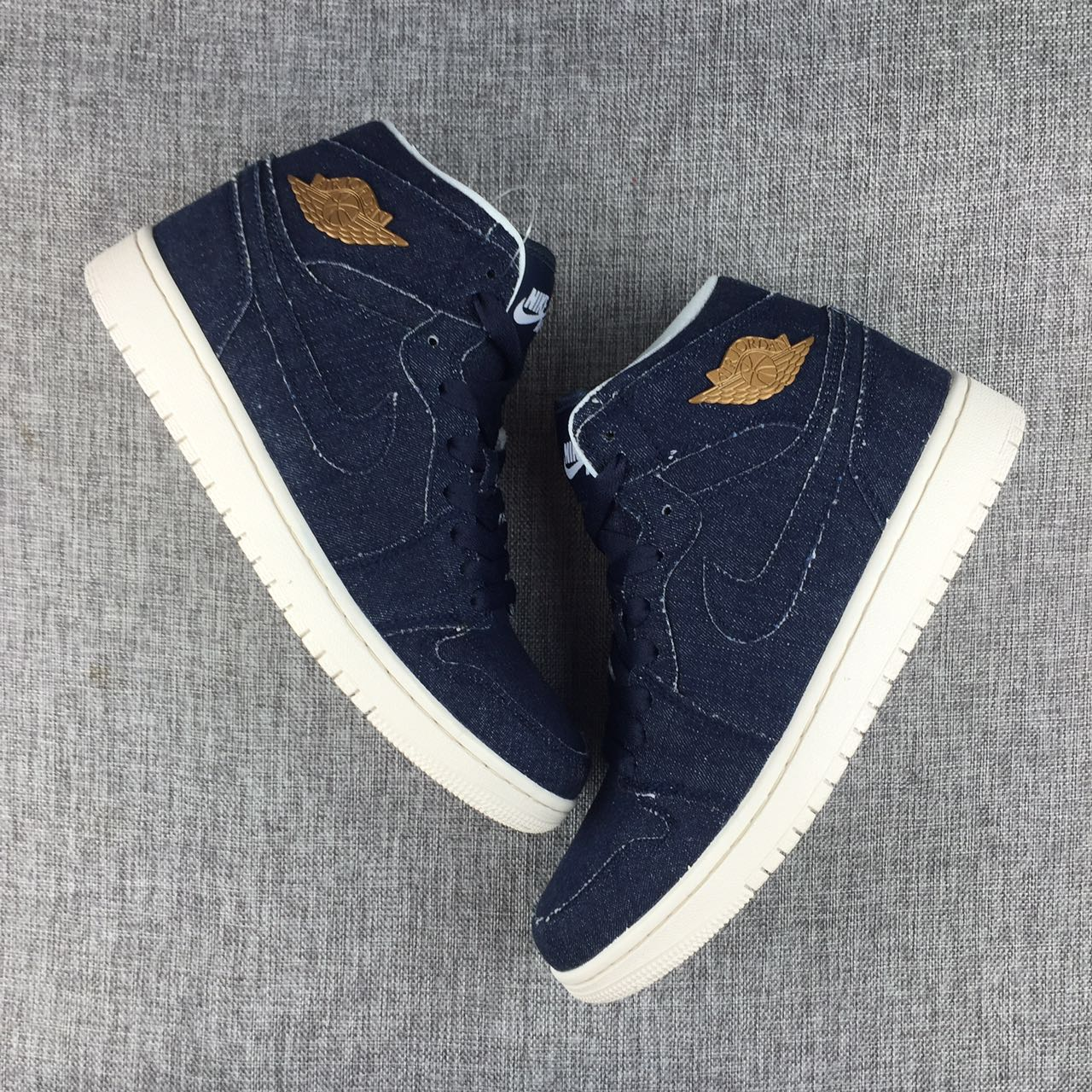 Men Air Jordan 1 Retro Tannin Blue Shoes