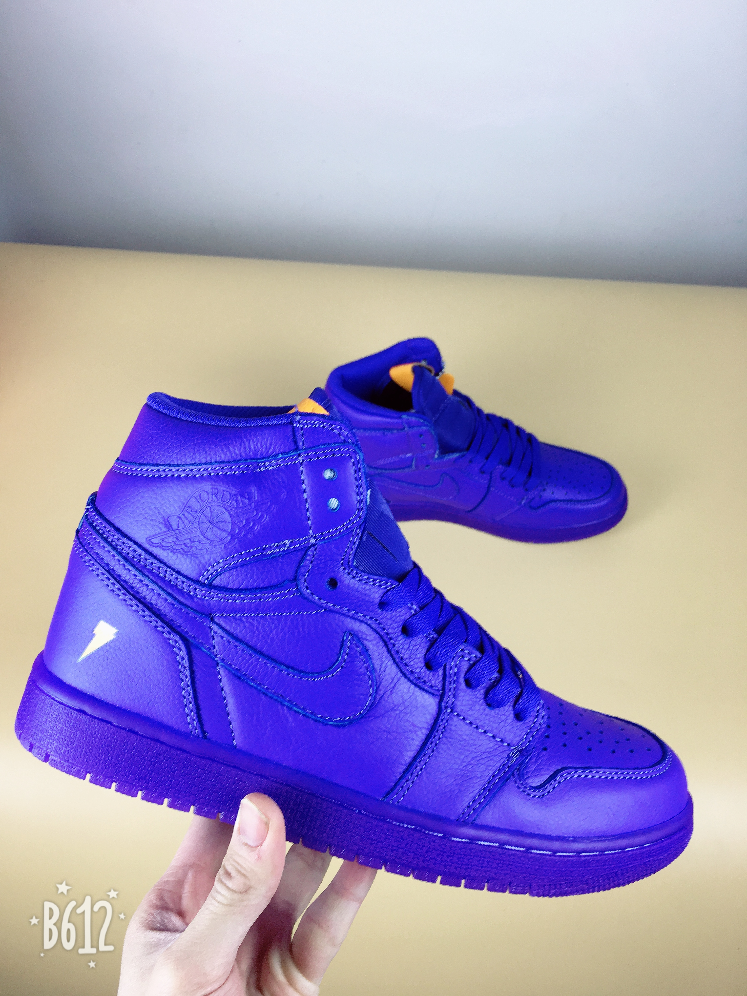 "Men Jordan 1 Gatorade ""Grape""Blue Shoes"
