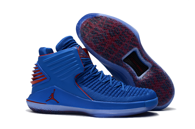 Men Jordan 32 High Blue Red Shoes