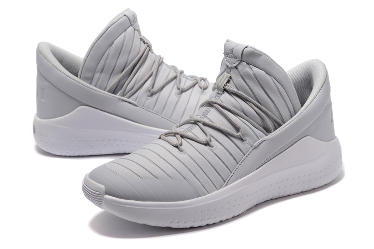 Men Jordan Flight Luxe Grey White Shoes