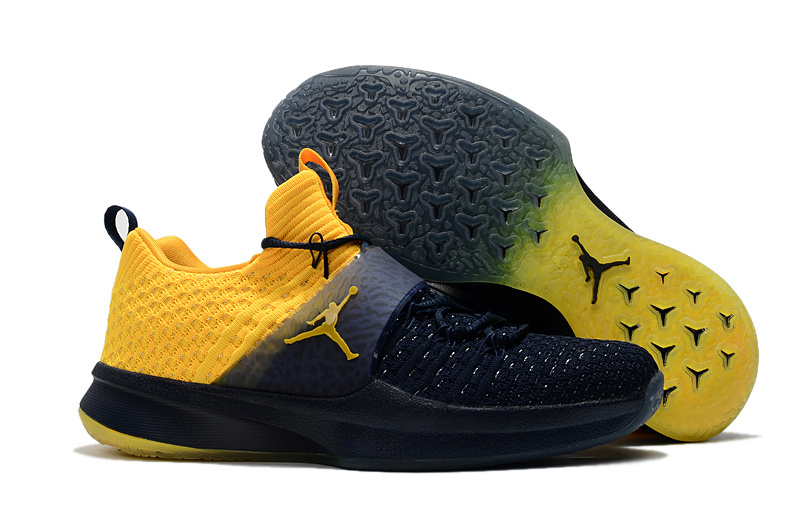 Men Jordan Trainer 2 Black Yellow Shoes