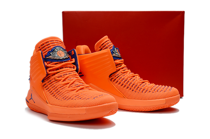 Men Jordan XXXII Orange Blue Shoes