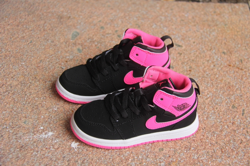 New Air Jordan 1 Black Pink For Kids