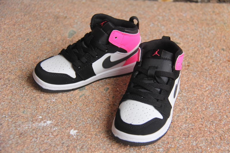 New Air Jordan 1 Black Pink White For Kids