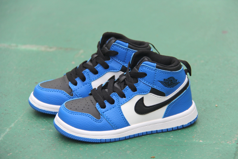 New Air Jordan 1 Blue Black White For Kids