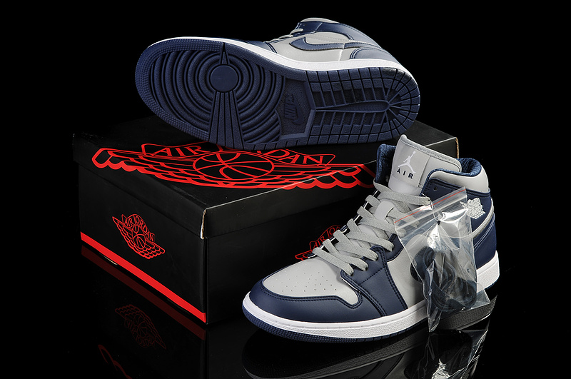 2013 Jordan 1 Retro Grey Blue White