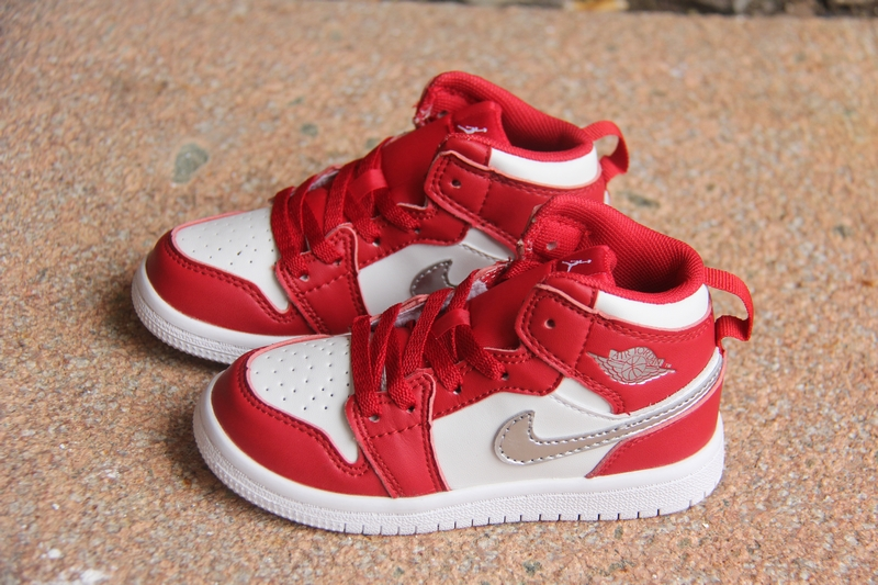 New Air Jordan 1 Red White For Kids