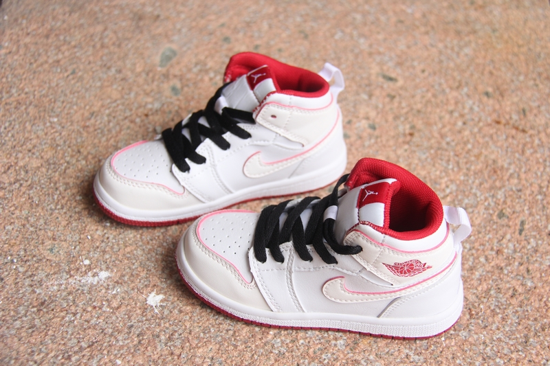New Air Jordan 1 White Pink Black For Kids