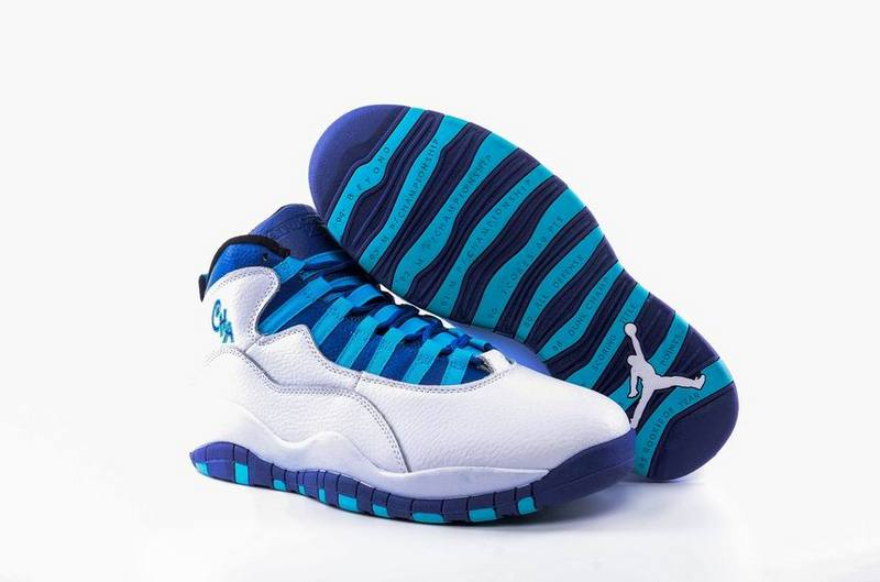 New Air Jordan 10 Charlotte Hornets White Concord Blue Lagoon Black