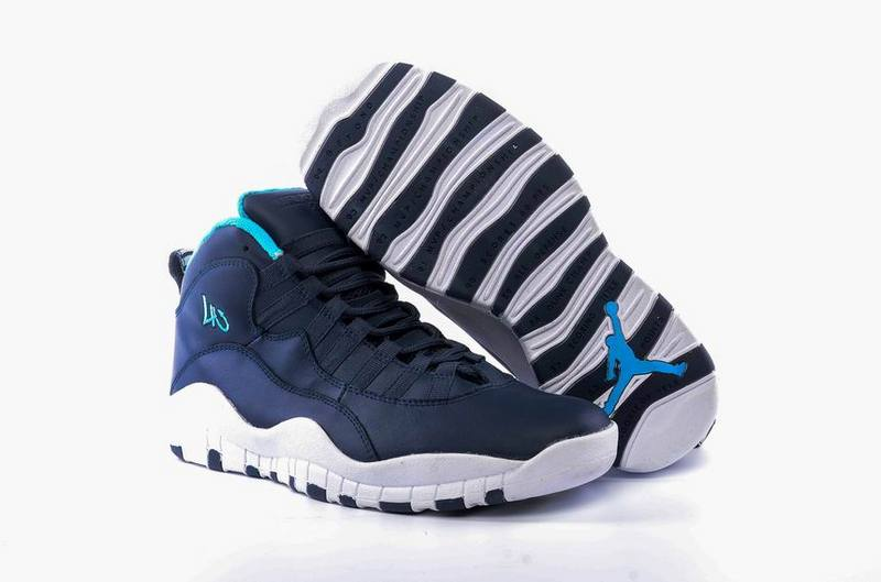 New Air Jordan 10 Los Angeles Ocean Fog Blue Lagoon Midnight Navy