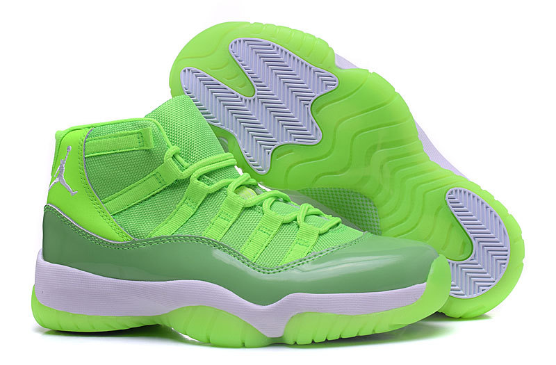 New Air Jordan 11 GS Neon Green PE