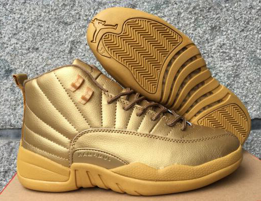 New Air Jordan 12 All Gold