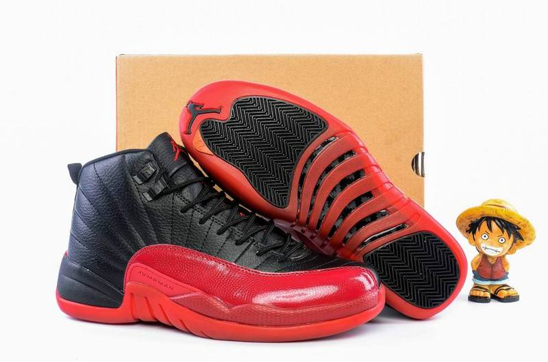 New Air Jordan 12 GS Flu Game Black Varsity Red