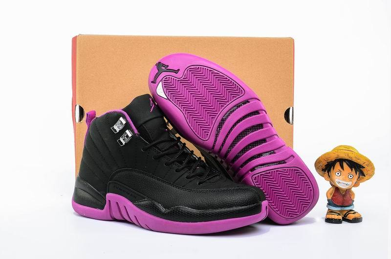 New Air Jordan 12 GS Hyper Violet Black Metallic Gold Star Hyper Violet
