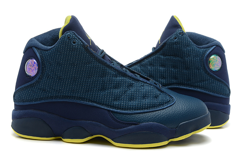 New Air Jordan 13 All Blue Shoes