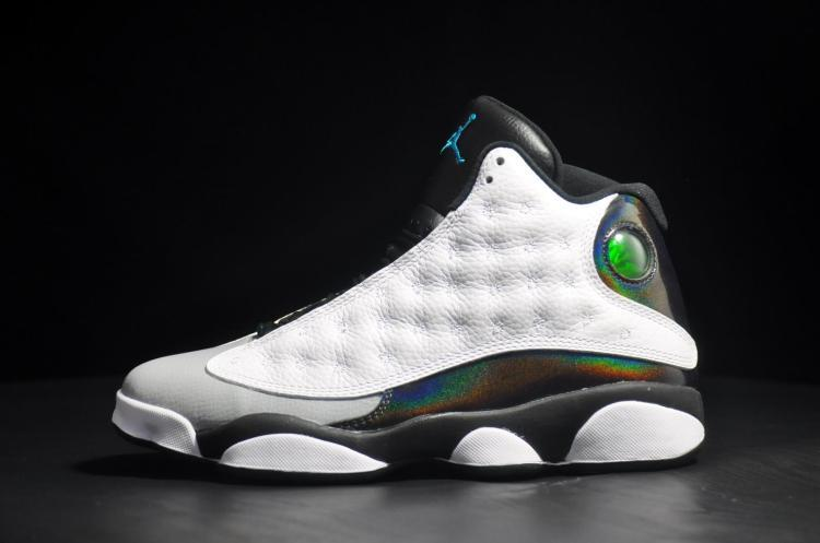 New Air Jordan Retro 13 Earl White Black Grey Shoes