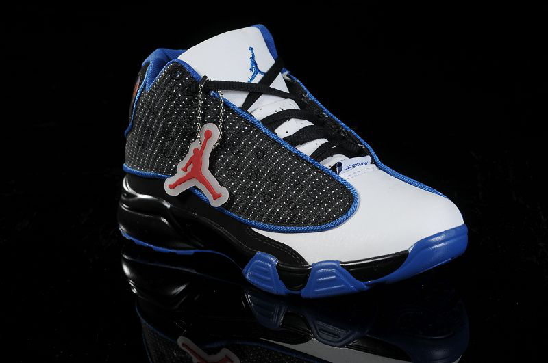 Air Jordan 13 White Black Blue For Kids