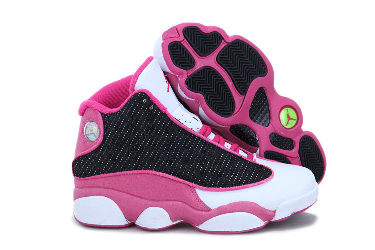 Cheap Jordan 13 White Black Pink For Women