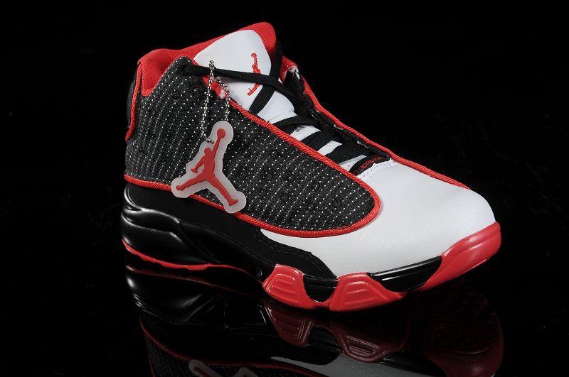 Air Jordan 13 White Black Red For Kids