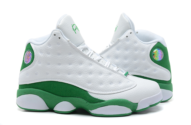 New Air Jordan 13 White Green Shoes