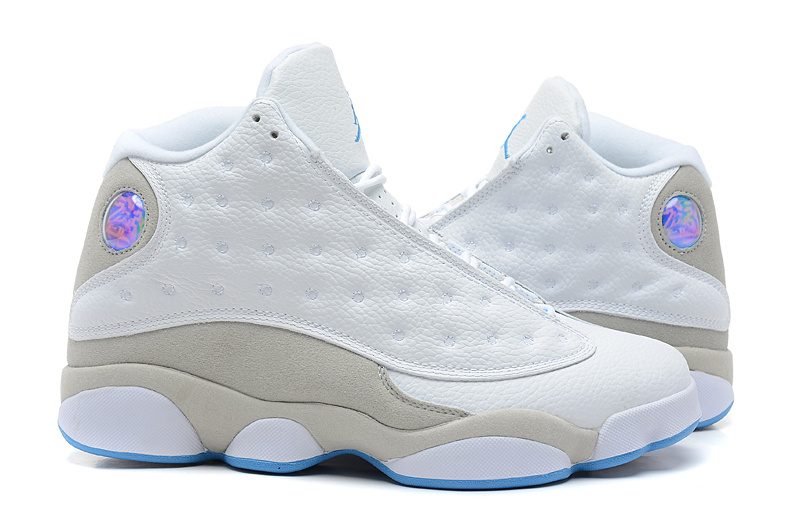 New Air Jordan 13 White Grey Blue Shoes
