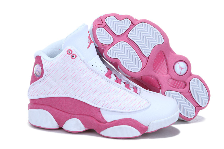 Cheap Jordan 13 White Pink For Women