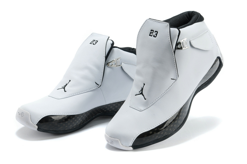 New Air Jordan 18 White Black Shoes