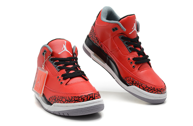 New Jordan Retro 3 Black Red White