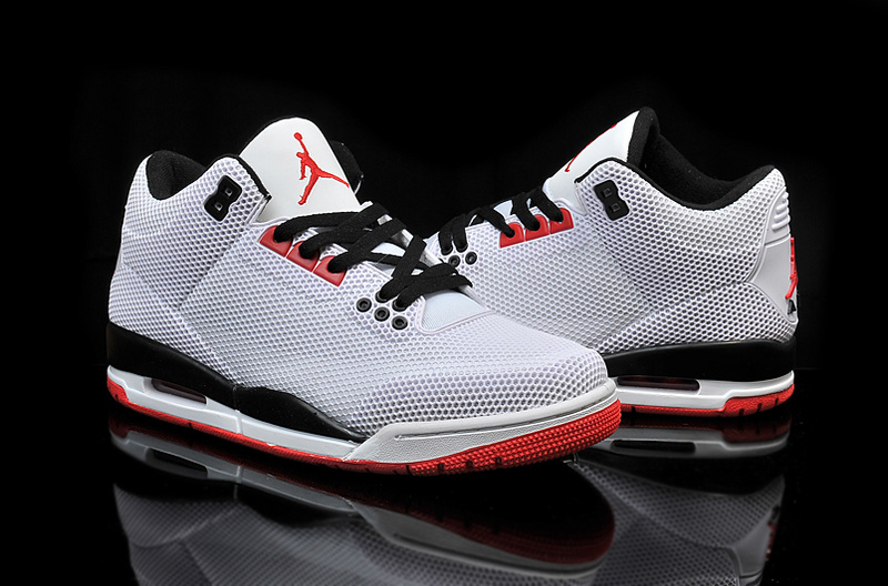 Cheap 2015 Air Jordan 3 Retro PVC Grey Black Red Shoes