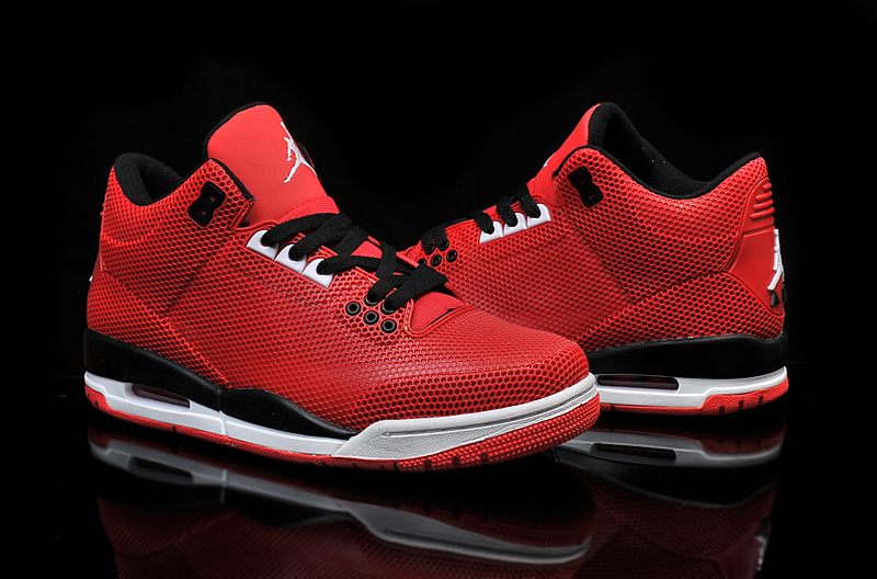 Cheap 2015 Air Jordan 3 Retro PVC Red Black White Shoes
