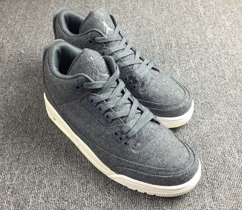New Air Jordan 3 Wool Dark Grey Dark Grey Sail