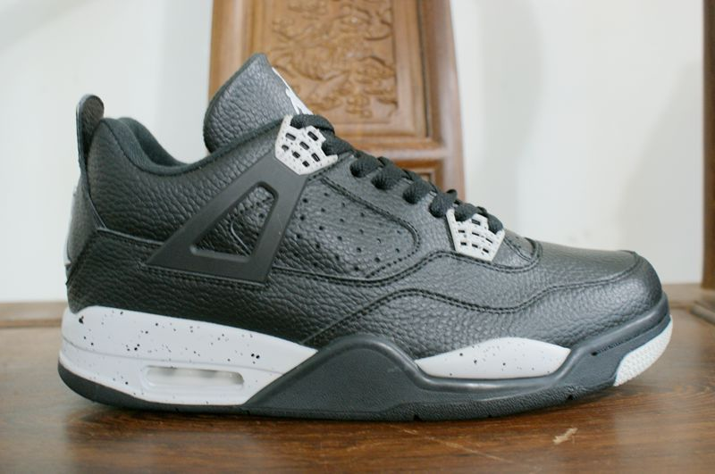 New Air Jordan 4 Retro Oreo Black Grey Shoes