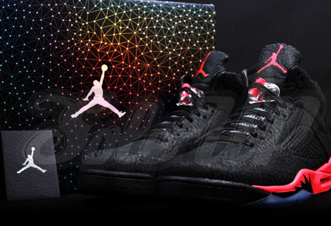 New Air Jordan Retro 5 Black Red Shoes