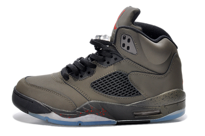 New Air Jordan Retro 5 Army Black Shoes