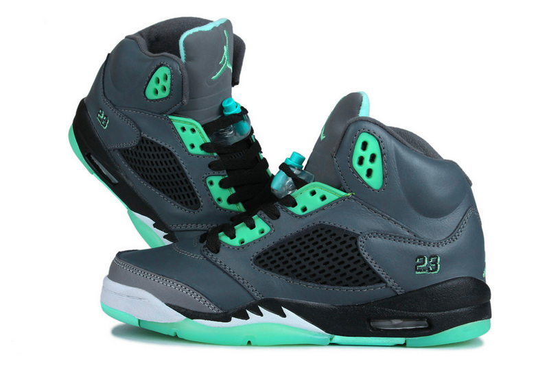 New Air Jordan Retro 5 Grass Green Shoes