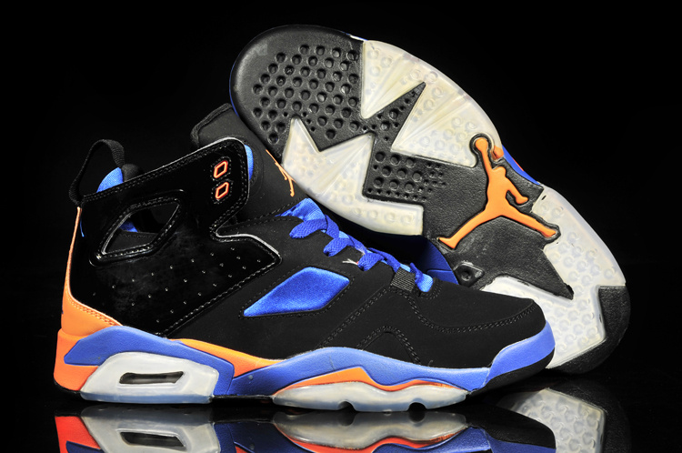New Air Jordan 6 Black Blue Orange White Shoes