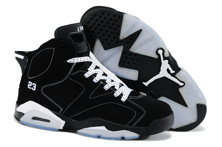 New Air Jordan 6 Black White Shoes